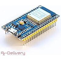 AZDelivery ⭐⭐⭐⭐⭐ Módulo ESP32 NodeMCU ESP-WROOM-32 Tablero de Desarrollo WiFi con CP2102 (Modelo sucesor de la ESP8266)
