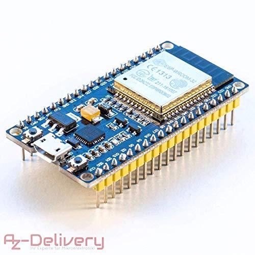 AZDelivery ⭐⭐⭐⭐⭐ ESP32 NodeMCU modulo WiFi Placa de Desarrollo con CP2102 (sucesor del ESP8266) con ebook Gratis!