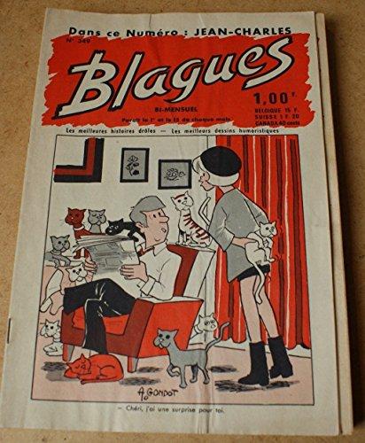 Blagues n° 349 - dans ce numéro Jean-Charles