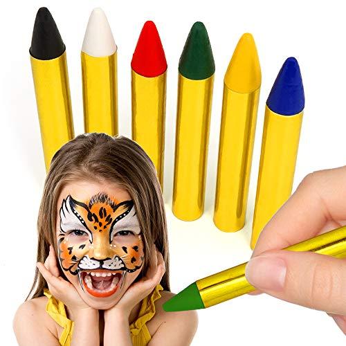 German Trendseller® - 12 x Schminkstifte ┃ Kindergeburtstag ┃ Körpermalfarben - Kinder ┃ Fasching - Halloween - Kinderschminken ┃ 2 Packung