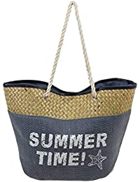 "#1 Beach Bag For Women To Take Beach Stuff For Daily Usage. Enjoy This Large Beautiful Tote Bag 20""x15""x8 - Navy..."