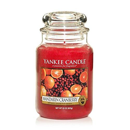 Yankee Candle Mandarin Cranberry Duftkerze, Glass, Rot, L -