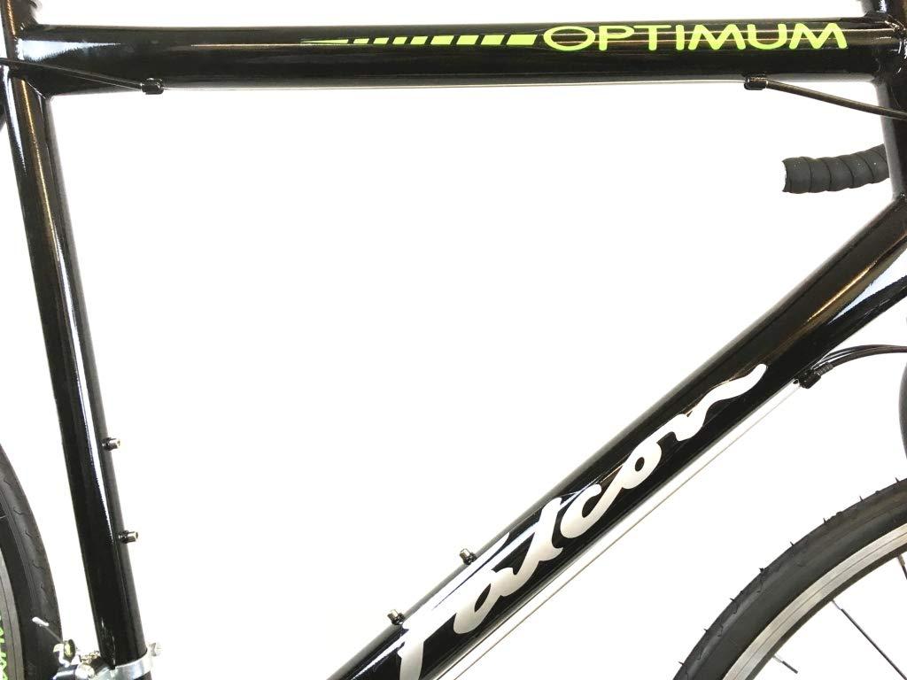 51t8i8UIbcL - Falcon Optimum Mens Road Racing Bike - Black/Green