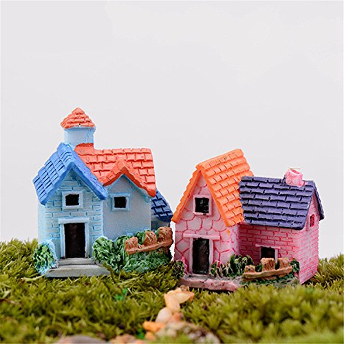 Inovey DIY Craft Landscape Dollhouse House Potted Plant Garden Decor