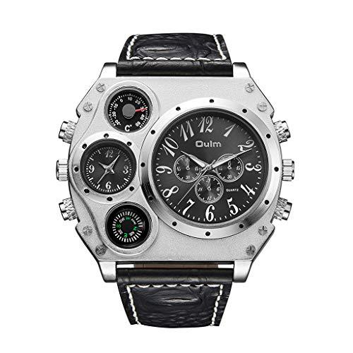 REALIKE Herren Digitale Armbanduhr,Leder Armband Classic Mode Outdoor Laufen wasserdichte Uhren, Cool Sport große Anzeige Sportuhr mit LED für Männer Freizeit Erwachsene Smart Watch