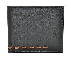 Chandair Pure Leather Black & Brown Mens Wallet