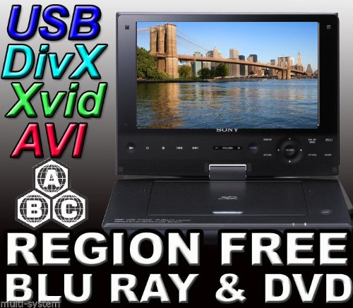 'Sony SX910 9 codefree Tragbarer Blu Ray Player THR928SRT Region Code Free DVD 012345678 PAL/NTSC...