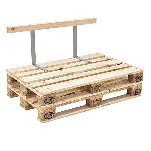[en.casa] Rückenlehne für Euro-Paletten-Sofa massiv Holzoptik DIY Möbel - 2