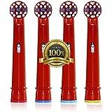 Dr. kao® Cepillo de dientes cabezales para cepillo de dientes niños cabezales de cepillo de dientes electrónico para niños estándar para Oral B cabezales para cepillo de dientes eléctrico para niños (4unidades) eb-10a (4)