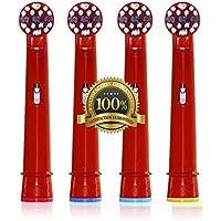 Los padres Dr. kao® 12 pack estándar cabezales de cepillo de dientes electrónico - Cabezales para cepillo de dientes eléctrico para niños para Oral B Cepillo de dientes Heads Kids eb-10 a
