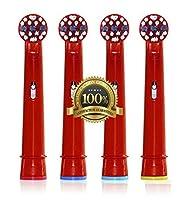Dr Kao® 4 pack Têtes de brosse à dents électrique standard pour têtes de brosse à dents électrique pour enfants Têtes pour brosse à dents Oral B pour enfant eb-10 a
