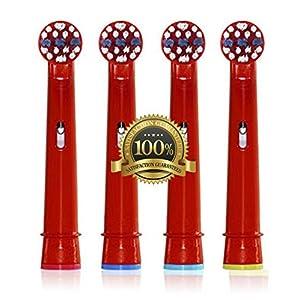 Drkao Clean Aufsteckbürsten für Oral B Kinder Elektrische Zahnbürstenköpfe für Braun Oral B Elektrische Zahnbürste Kinder Aufsteckbürsten Köpfe für Oral-B kids Aus Hochwertigem Dupont-Nylon, 4 Stück