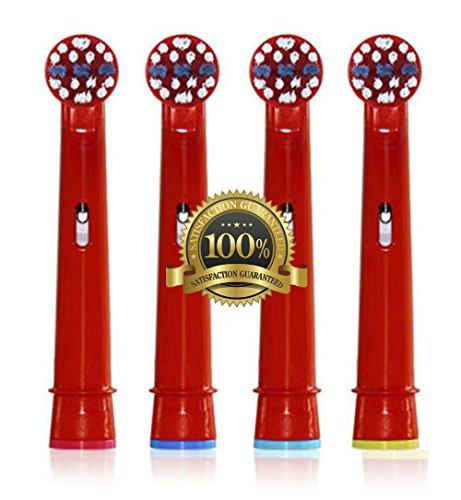 Drkao Clean Aufsteckbürsten für Oral B Kinder Elektrische Zahnbürstenköpfe für Braun Oral B Elektrische Zahnbürste Kinder Aufsteckbürsten Köpfe für Oral-B kids Aus Hochwertigem Dupont-Nylon, 4 Stück - Zahnbürste Jahr Elektronische 1