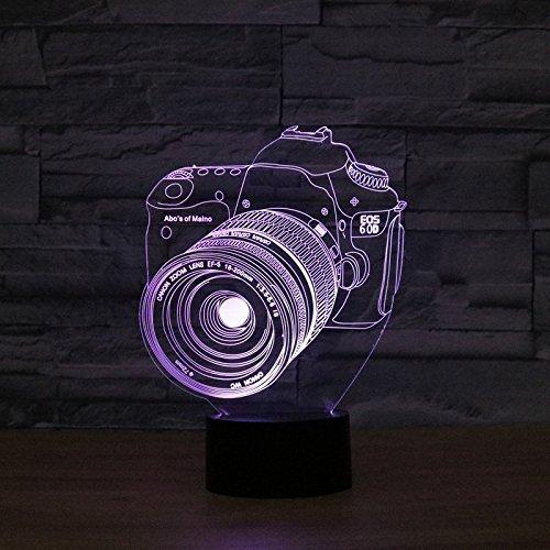 Kamera 3D bunte Lichter LED Lampe Acryl Vision Stereoskopische camera 3D Touch Lampe Nacht Licht bunte Steigung Lampe