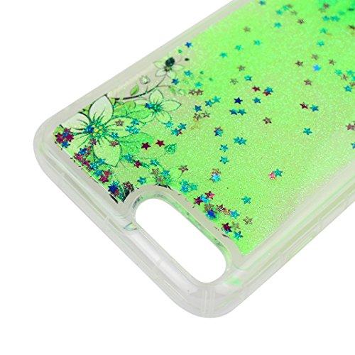 Case iPhone 7 Plus Treibsand Schale 5.5 Zoll, iPhone 7 Plus Flüssig Hülle, Moon mood® iPhone 7 Plus Durchsichtige Handyhülle 3D Creative Case Mode Bunten Transparente Kristallklaren Sparkly Silikon TP Stil 25