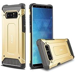 Galaxy Note 8 Funda, J&D [Armadura Delgada] [Doble Capa] [Protección Pesada] Híbrida Resistente Funda Protectora y Robusta para Samsung Galaxy Note 8 - Oro