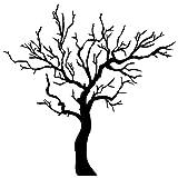 Wadeco Baum ohne Blätter Wandtattoo Wandsticker Wandaufkleber 35 Farben verschiedene Größen, 160cm x 160cm, schwarz
