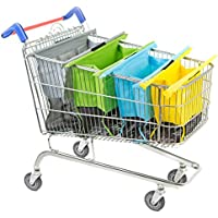 Trolley Bags Original Pastel Reusable Shopping Bags - Set of 4 Bags for Normal Supermarket Trolleys