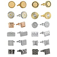 ‏‪Stacy Adams Men's Cuff Link Set, Multi, No Size‬‏