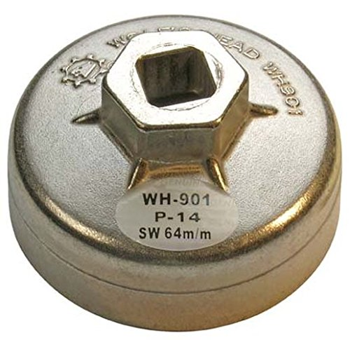 BGS Ölfilterkappe aus Aluminium-Druckguss, 64 mm x 14 kant, 1042