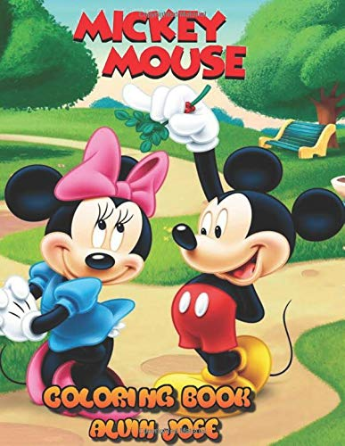 Mickey Mouse Coloring Book: For Kids age 3-8 years and Adults (Books Mouse Coloring Mickey)
