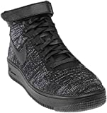 Nike Basketball Air Force 1 Flyknit  Black Black White, Groesse:40.0_us08.5_uk06.0_cm25.5w