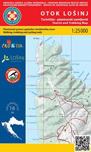 Otok Lošinj 1:25.000 carte de randonnée (Croatie)