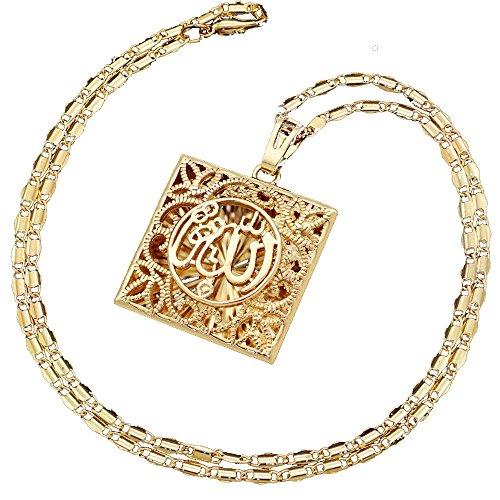 MCSAYS Naher Osten Arabische für Islam Allah Akbar-Anhänger, Kette, Halskette für Herren Fashion Schmuck-Zubehör