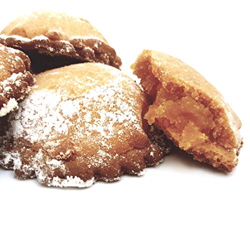 Short Pastry Cookies Orange Filled, Strictly Handmade in Sicily (gr.250). RAREZZE: Typical Sicilian Products, Cannoli, Almond Paste, cassate, from Sicilian Artisanal Pastry.