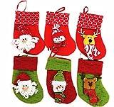 Kingstons - Mini calze di Natale per regali, 12 pz