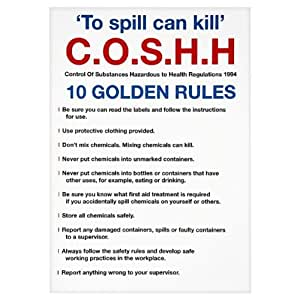 C.O.S.H.H 10 Golden Rules Sign: Amazon.co.uk: Grocery