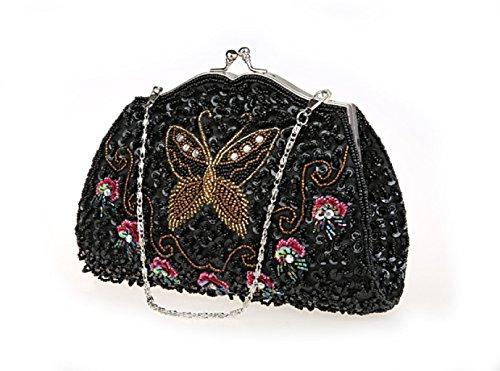 borsa a mano in rilievo/Butterfly frizione borsa/ fiore Tote/Package (Ricamato Floreale Frizione)