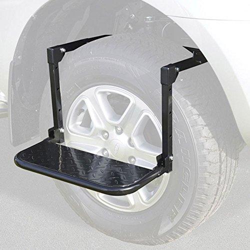 Byjia Faltbarer Justierbarer Reifen-Schritt Für SUV LKW