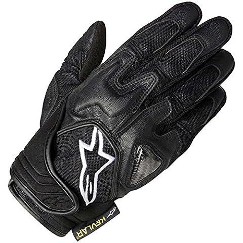 3502612 10 L - Alpinestars Scheme Textile Motorcycle Gloves L Black (Black Stitching)