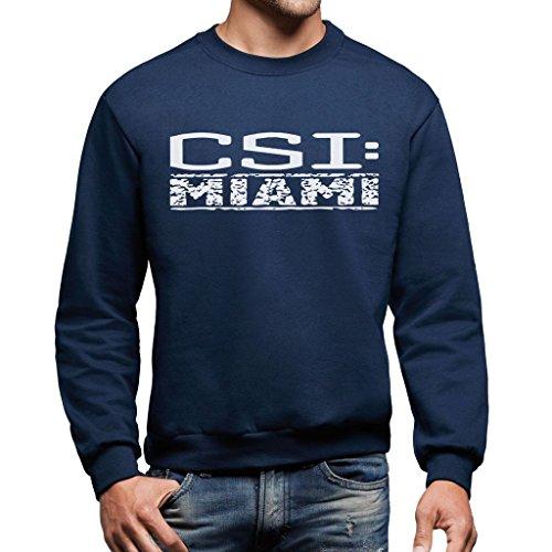 MUSH Sweatshirt CSI Miami - Film by Dress Your Style - Herren-XL Ultramarinblau