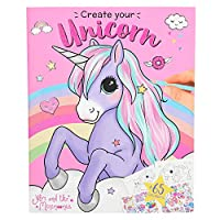 Depesche 10534 Colouring Book Create Your Unicorn Ylvi and The Minimoomis Colourful