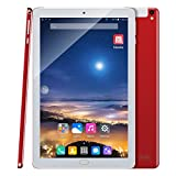 Kivors 10.1 inch Quad Core Tablet, A109 3G Android 7.0 Unlocked Dual Cameras SIM Card Slot Phablet 1280x800 HD IPS Screen (2G+32G, Red)