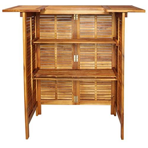 mewmewcat Bar Table Outdoor Garden Furniture 110x50x105 cm Solid Acacia Wood
