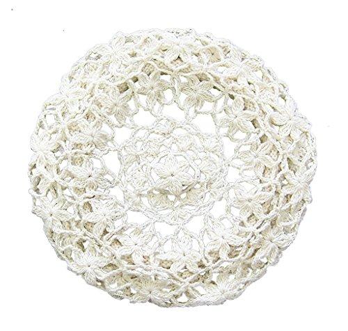 bestknit Frauen Licht-Beret Crochet Strick Stil für Frühjahr Sommer Herbst Gr. One size, Weiß Brand Name: Bestknit (Crochet Beret)