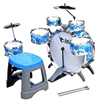 Percussion Toy Musical Instrument Classical Jazz Drum Set Early Educational Toys,blue