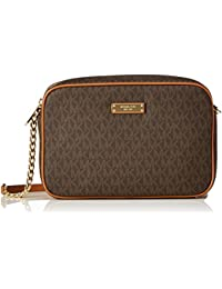 Michael Kors East West Grand brun signature sac Cross-Body