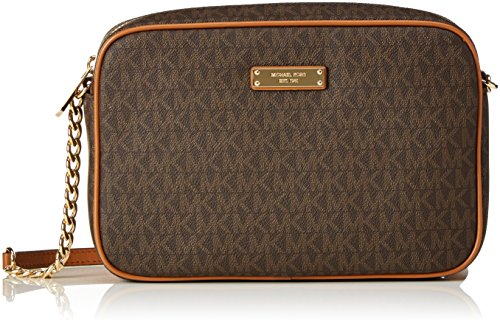 Michael Kors Damen Jet Set Item Tornistertasche, Braun (Brown), 5x16.5x24 cm