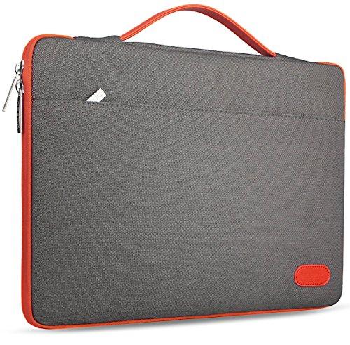 HSEOK 13-13,3 Zoll MacBook Air/Pro Aktentasche Laptop Handtasche Hülle Tasche, Stoßfeste Wasserdicht PC Sleeve für die meisten 14 Zoll Notebook UltraBook Tablet, Dunkelgrau -