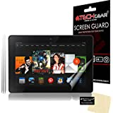 """[3 Pack] TECHGEAR® Amazon Kindle Fire HDX 7"""" 7.0 inch CLEAR LCD Screen Protectors With Cleaning Cloth + Application Card (3rd Generation tablet)"""