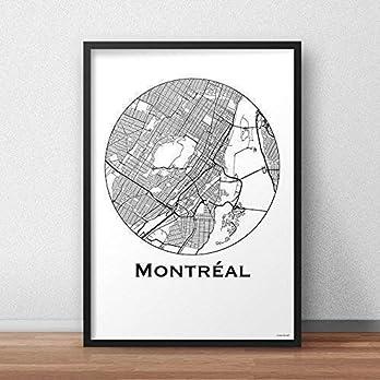 Plakat Montréal Canada Minimalist Map – Poster, City Map, Dekoration, Geschenk