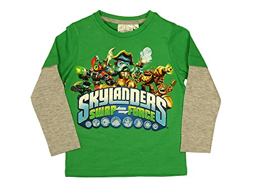 Skylanders Boys Long Sleeve T-Shirt from 3 to 8 Years (8 Jahre)