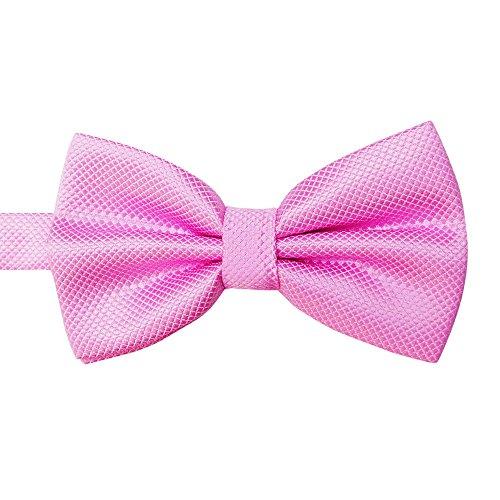 Syeytx 20 Color Solid Silk Blue Fliege Set Herren Hochzeit Fein Jacquard Fliege - Smoking Weste Schwarz Bow Tie