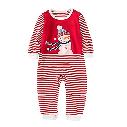 Mädchen Schneemann Outfit - squarex ® Baby Langarmoverall Jungen Mädchen