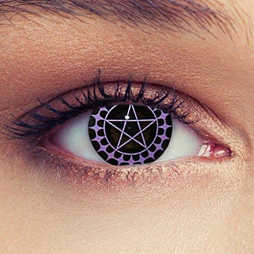 Okkulte Schwarze Pentagramm Kontaktlinsen Model: Ciel + gratis Kontaktlinsen Behälter (innerhalb Dt.)