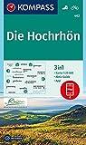 Die Hochrhön: 3in1 Wanderkarte 1:25000 mit Aktiv Guide inklusive Karte zur offline Verwendung in der KOMPASS-App. Fahrradfahren. (KOMPASS-Wanderkarten, Band 462) -